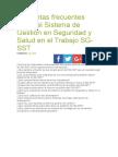 Preguntas Frecuentes Sobre El Sistema de Gestión en Seguridad y Salud en El Trabajo SG