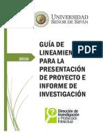 Guía Investigación I y Desarrollo de Tesis