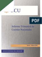 Cuentas Nacionales Primer Trimestre 2016