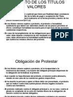 Titulos valores - Protesto