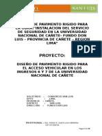 Diseño de Losa Rigida - Memoria de Calculo