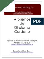 Aforismos - Girolamo Cardano