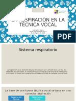 Respiración en la Técnica vocal