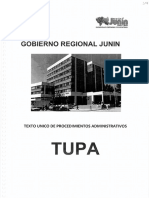 Texto Único de Procesos Administrativos - TUPA