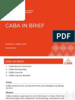 CABA in Brief (Updated