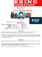 Sidney Cranston Missing