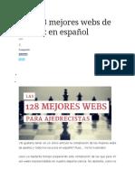 Las 128 Mejores Webs de Ajedrez en Español