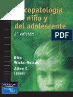 Psicopatología Del Niño y Del Adolescente - Rita Wicks-Nelson y Allen Israel