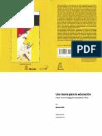 175024919 Wilfred CARR 2002 Una Teoria Para La Educacion Hacia Una Investigacion Educativa Critica