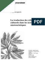La Traduction Des Référents Culturels Dans Les Textes Œnotouristiques
