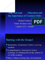 Education and Creation Order