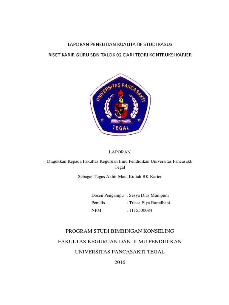 Laporan Penelitian Kualitatif Studi Kasus Pdf
