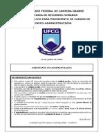 Assistente Em Administracao Ufcg