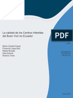 La Calidad de Los Centros Infantiles Del Buen Vivir en Ecuador