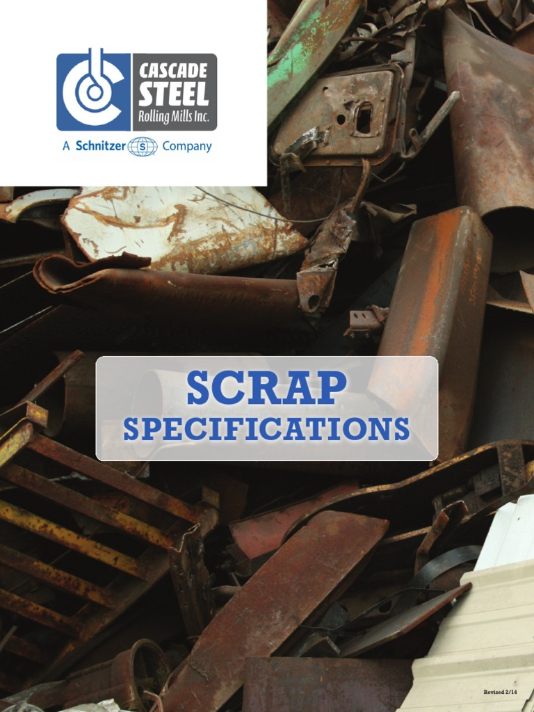 Scrapspecificationspdf Scrap Steelmaking - Schnitzer scrap yard