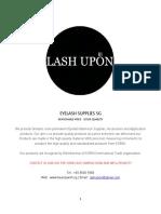 Lash Supplies Catalouge