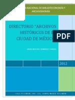 Directorio de Los Archivos de La Ciudad de México