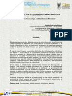 La Fenomenologia de La Didactica de Las Estructuras Matematicas de Hans Freudentathal