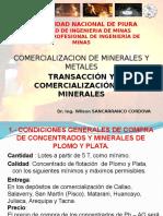 Cap v Transacción y Comercialización de Minerales