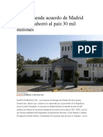 PRD Defiende Acuerdo de Madrid y Afirma Ahorró Al País 30 Mil Millones