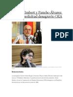 Carmen Imbert y Pancho Álvarez Saludan Solicitud Desagravio OEA