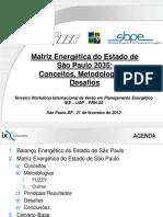 Projeções Matriz Energética