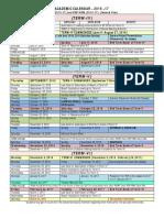 Academic Calendar- 2nd Year 2015-17