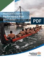Auckland Council Performance Plan 20172019