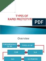 Types of Rapid Prototyping