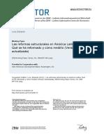 Las Reformas Estructurales en América Latina Qué Se Ha Reformado y Cómo Medirlo
