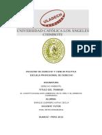 Constitucionalismo Ambiental en El Peru y El Derecho Comparado II UNIDAD.