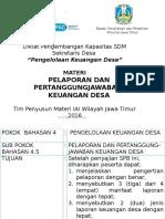Materi 9.1 Pelaporan Dan Pertanggungjawaban Keuangan Desa