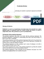 basics of Production