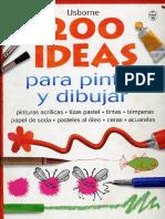200 Ideas Para Pintar y Dibujar