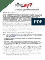 ECU Software/Firmware/USB Driver Information