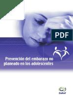 Prevención Del Embarazo No Deseado en Los Adolescentes