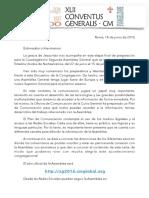 [6-14 ESP] Carta a los Delegados sobre Comunicación