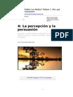 4. La Percepción y La Persuasión