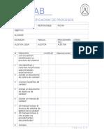 Lista de Verificacion de Procesos