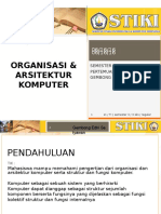 Perkuliahan 1 - organisasi Dan Arsitektur Komputer