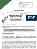 Guía de Contenidos y actividades GLOBALIZACION ECONOMICA 8