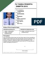 Kartu Pendaftaran SNMPTN 2016 4160359445