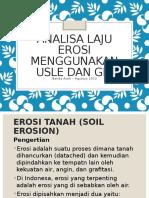 Analisa Laju Erosi Menggunakan USLE Dan GIS