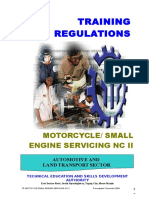 Motorcycle Small Engine Servicing NCII TR