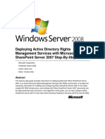 Deploying Active Directory Rights Management Services With Microsoft Office SharePoint Server 2007 Step-By-Step Guide