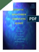 JDN Monocrane - Manufacturers of Overhead Lifting Equipment
