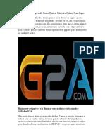 Afiliados G2A - Aprenda Como Ganhar Dinheiro Online Com Jogos