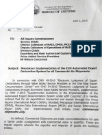 BOC CMC 79-2016 (Commercial air exports e-lodgement)