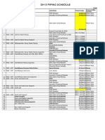 Piping Activities Schedule for DH3 Extn R-1