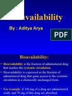 Pharmacology Bioavailability